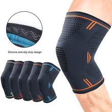 цена 1 Pair Nylon Fitness Running Cycling Bandage Knee Support Braces Elastic Sports Compression Pad Breathable Sports Knee Pads