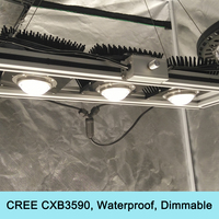 450W Cree CXB3590 COB Grow Light Dimmable Full Spectrum LED Lamps Waterproof for Greenhouse Plants Seedling, Veg and Blooming