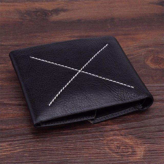 Fashion Mens Genuine Leather Wallet Trifold Purse ID Credit Magic Wallet Card Holder Clutch