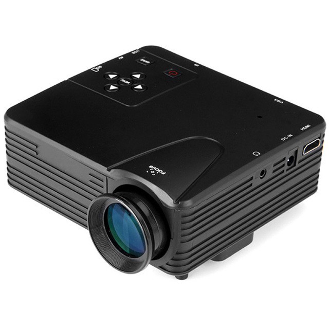 Mais novo!! H80 ProjectorTheater Multimedia LEVOU Projetor de Cinema Em Casa portátil HD 1080 P TV AV VGA HDMI USB