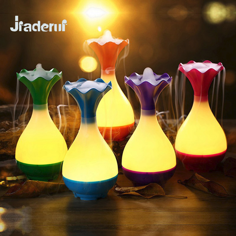 Jiaderui LED Air Humidifier Aroma Lamp USB Night Light with Air Humidifier Essential Oil Diffuser for Home Room Office Car Use
