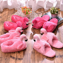 2019 new flamingo slippers winter plush slippers