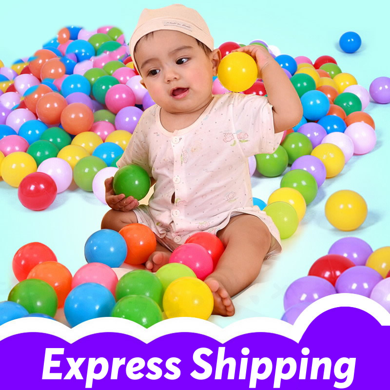 500PCS Plastic Baby Ball Pit Balls Plastic Ocean Ball Swim Pool Ball Play Tent Toys Colorful Soft Plastic Kids Bath Toys PX40 ...