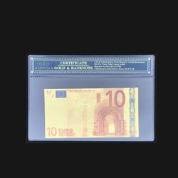 Новые товары, яркие фальшивые купюры на 10 евро с пластиковой рамкой для драгоценного подарка и коллекции