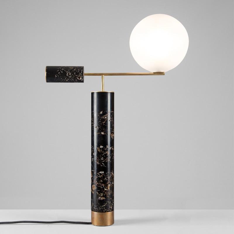 Мода Европы Мрамор прикроватные освещение стол настольные лампы для Спальня украшения дома покрытием Металл + Стеклянный Шар Абажур