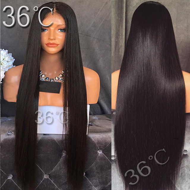 Straight Full Lace Wig Glueless Full Lace Human Hair Wig Brazilian Virgin Hair straight Lace Front Wig For Black /White Women