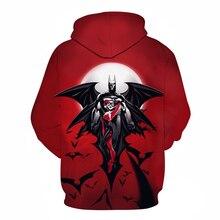 купить!  Новая осень мужская мода 3d толстовка с капюшоном аниме супергероя Бэтмен / Человек-паук печать мужс