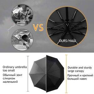 Image 3 - רוח עמיד מלא אוטומטית מטריית גשם נשים לגברים 3 מתקפל מתנה שמשייה קומפקטי גדול נסיעות עסקים רכב 10K מטרייה