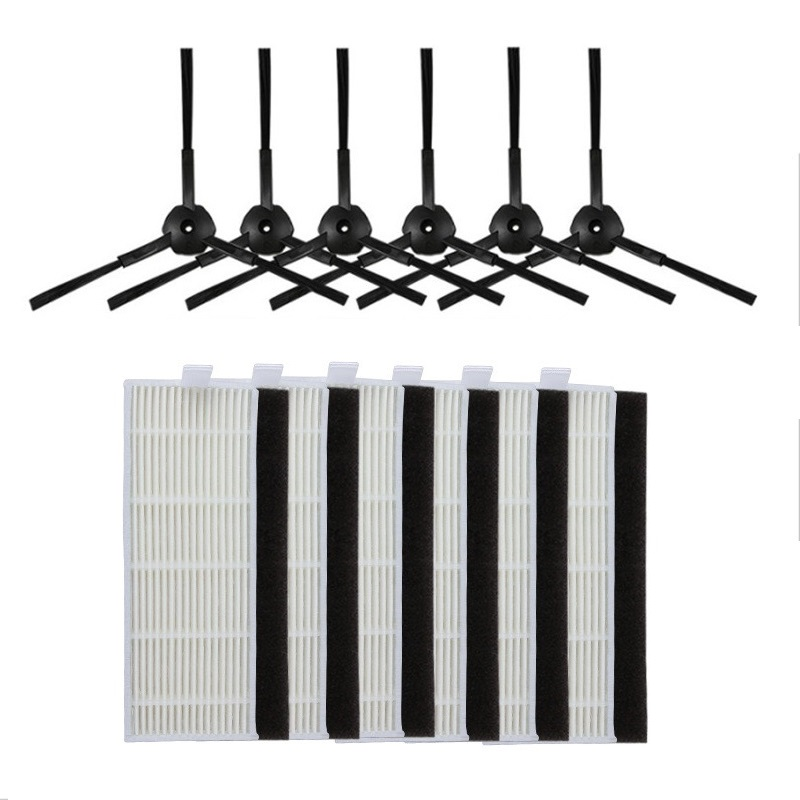 18pcs Side brush hepa Filter replacement kit for ILIFE A4 Cleaning Robot ILIFE A4s A6 A4 Robot Vacuum Cleaner parts filter hepa 10pcs replacement hepa dust filter for neato botvac 70e 75 80 85 d5 series robotic vacuum cleaners robot parts