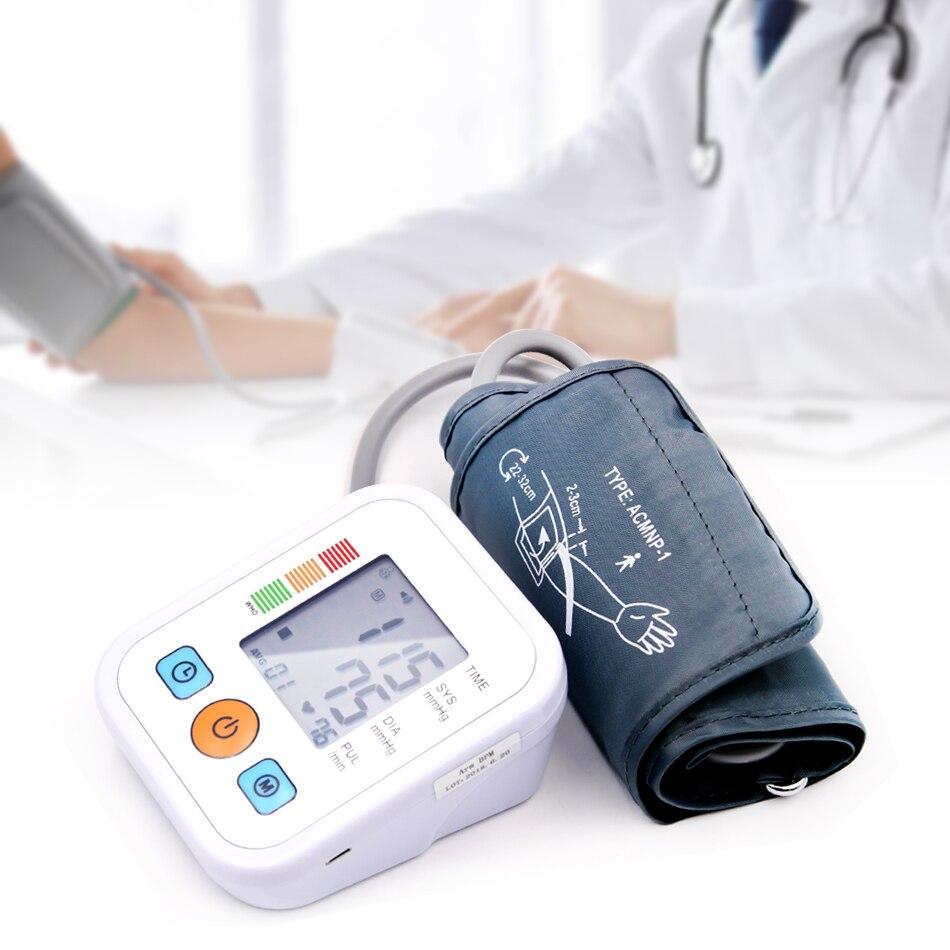 Home Gesundheit Automatische Digitale Blutdruck für Mess Oberen Arm Manschette Blutdruck Monitor