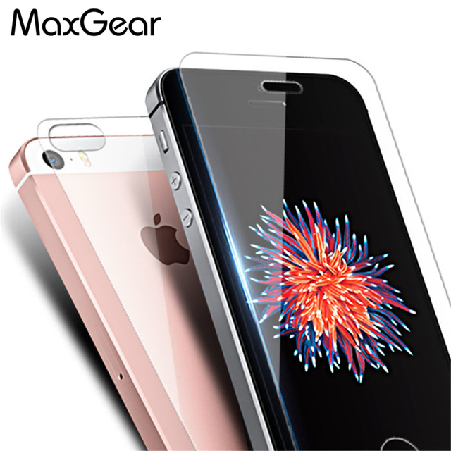 b012ffc87ee 0.3mm 9H Front + Back Tempered Glass For iPhone 5 5S SE Screen Protector  Anti