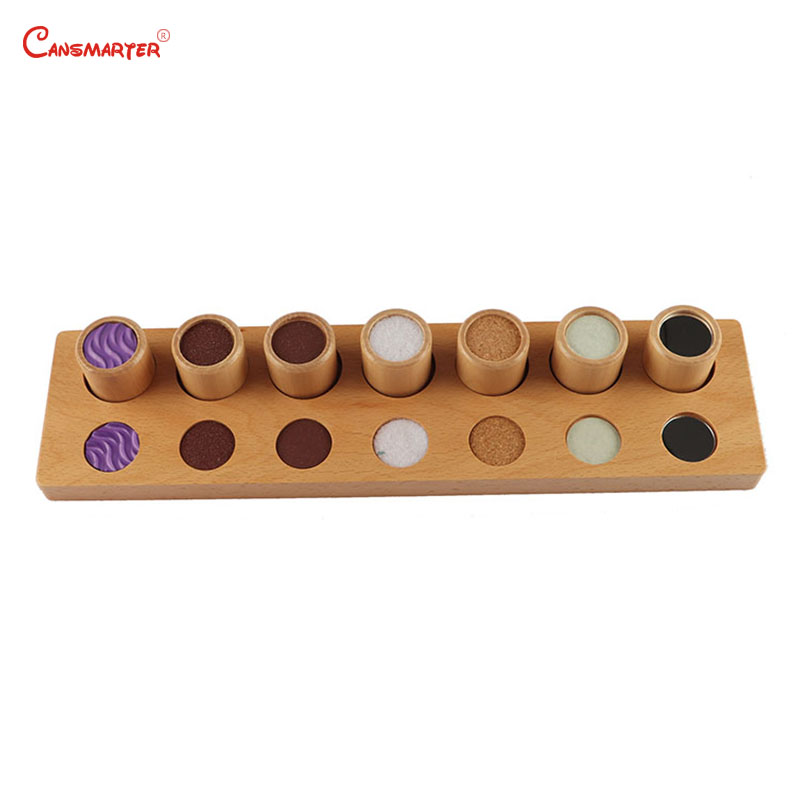 Exercices tactiles avec plateau cylindre jouets en bois jeu sensoriel accueil préscolaire enfants apprenant enfants Montessori matériaux SE022-37