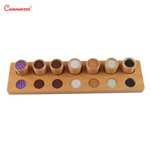 Touch Exercises With Board Cylinder Wooden Toys Sensory Game Home Preschool Kids Learning Children Montessori Materials SE022-37