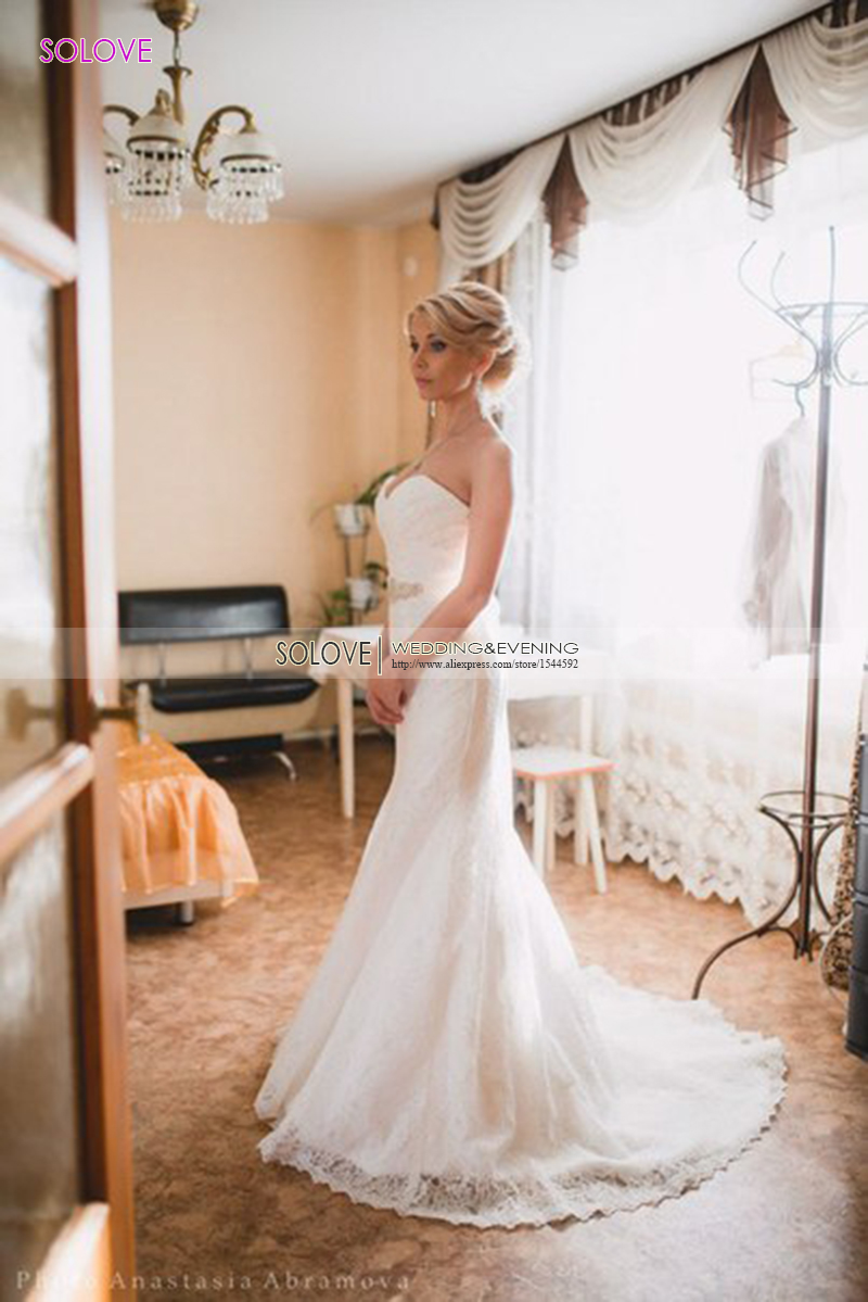 Buy the new europe sexy elegant lace for Sexy classy wedding dress