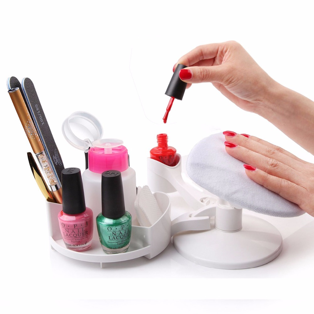 MAKARTT Mani Pedi Station Մատնահարդարում և պեդիկյուր Set Nail Studio Nail Polish Holder Stand and Rest DIY Home Nail Art F0552