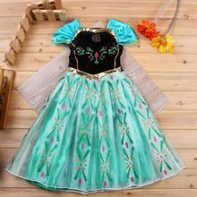 Girls Dress 2018 Summer Baby Princess Dress Elsa Anna Lace C