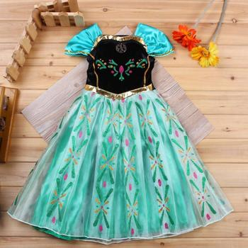 Vestido De Verano Para Niñas Vestidos De Princesa Anna Elsa