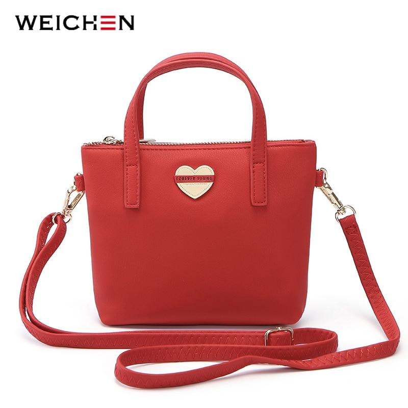 14afa4de084d WEICHEN Brand Heart Elements Shoulder Bag Women Leather Women s Crossbody  Messenger Bags Ladies Small Tote Bolsa Female Handbag