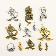 Charms For Jewelry Making Mermaid Legend  Accessories Parts Creative Handmade Birthday Gifts