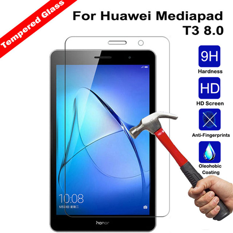 Tempered Glass For Huawei MediaPad T3 8.0 KOB-W09 KOB-L09 Screen Protector Tablet Toughened Glass Film For Honor Play Pad 2 8