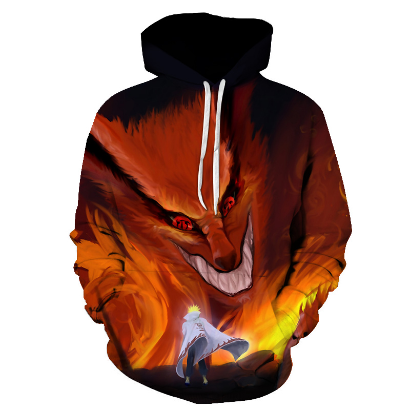 Hipster Anime Print 3d Hoodie Punk Men Casual Sweatshirts Naruto Hoodies Kakashi Akatsuki Sasuke O'Brien 3D Pullovers streetwear