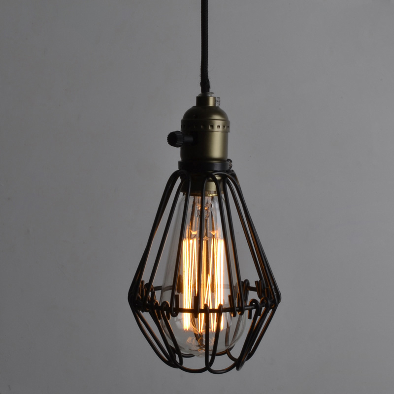 FRLED Fashion Vintage Wire Lamp Cage DIY Lampshade Industrial Lamp Guard Cage Lamp Shade Guard Classic Black Nordic Bulb Cover стоимость