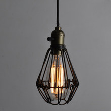 FRLED Fashion Vintage Wire Lamp Cage DIY Lampshade Industrial Lamp Guard Cage Lamp Shade Guard Classic Black Nordic Bulb Cover(China)