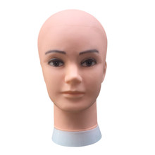 Wig Stand Male Bald Mannequin Head For Wigs Making Hats Display Cosmetology Manikin Head For Makeup Practice(China)
