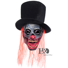 Scary Zombie Clown Mask Horror Demon Werewolf With Hat Halloween Costume