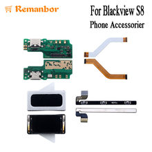 Remanbor For Blackview S8 USB Plug Charge Board Motherboard FPC Cable For Blackview S8 Power Volume Button Flex Cable Earpiece(China)
