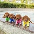 Corda Cães de Pelúcia Eletrônico Interativo Cantar Músicas animais de Estimação Eletrônicos Cão Latir HT3698 Caminhada Cão Brinquedos Para As Crianças de Natal