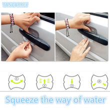 2018 NEW Car door handle stickers protector film for Mini Cooper R56 R57 R58 R50 R53 F55 F56 Jaguar XE XF Pontiac accessories(China)