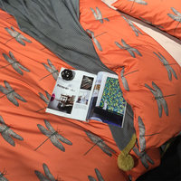 Vintage Orange Dragonfly Bedding Set Adult Teenage Full Queen King Cotton Double Home Textile Flat Sheet