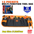 2016 New 13 Pocket  Pouch Electrician tool bag  Multifunction Carpenter Contractor Construction Tool Belt Bag