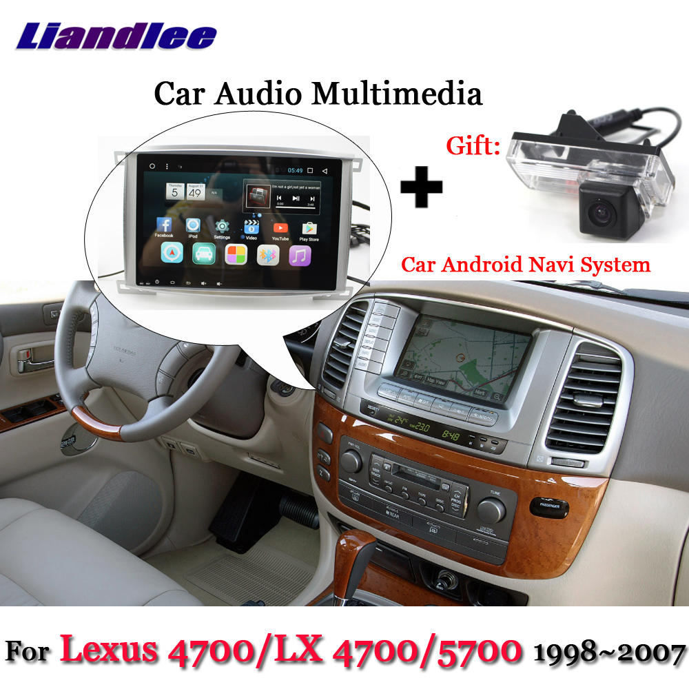 Liandlee Car Android System For Lexus LX 4700 / LX4700 / 4700 / 5700 Stereo Radio BT GPS Navi MAP Navigation Screen Multimedia liandlee car android system for toyota ipsum picnic 2001 2009 radio stereo camera bt gps navi map navigation screen multimedia