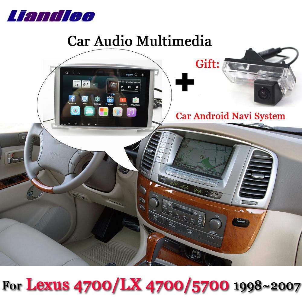 Liandlee Sistema Android Carro Para Lexus LX 4700/LX4700/4700/5700 Stereo Radio BT GPS Navi MAPA tela de navegação Multimídia