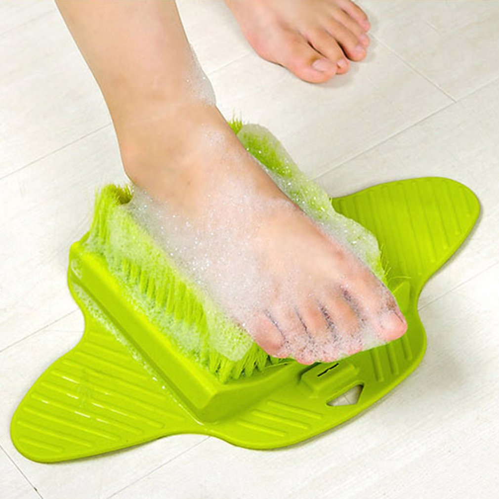 Foot Massage Brush Relax Relief Scrub Massager Spa Shower Feet Care Exfoliating Remove Dead Skin Cleaning Scrubber Bathroom sea of spa exfoliating shower gel red grapefruit