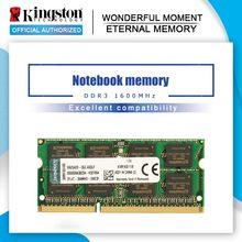 Kingston – barrette de RAM DDR3 4 go ou 8 go pour pc portable Gaming Intel, module de mémoire vive, fréquence 100% Mhz, modèle 1600
