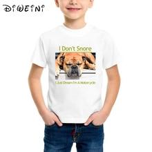 Sleeping Bulldog Kids Tees Funny French design boys t shirt animal print tshirt Dogs T-Shirt Short Sleeve Top