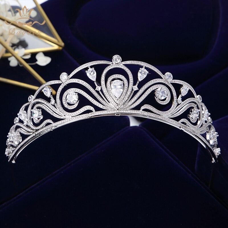 Accesorios para el cabello de la boda de la Corona de Tiara nupcial de circonita brillante de alta calidad de Bavoen-in Joyería para el cabello from Joyería y accesorios    1