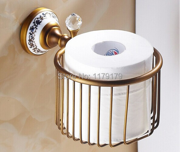 ФОТО free shipping Europen  Classic style antique brass paper Roll Holder bathroom accessoriesTC5619
