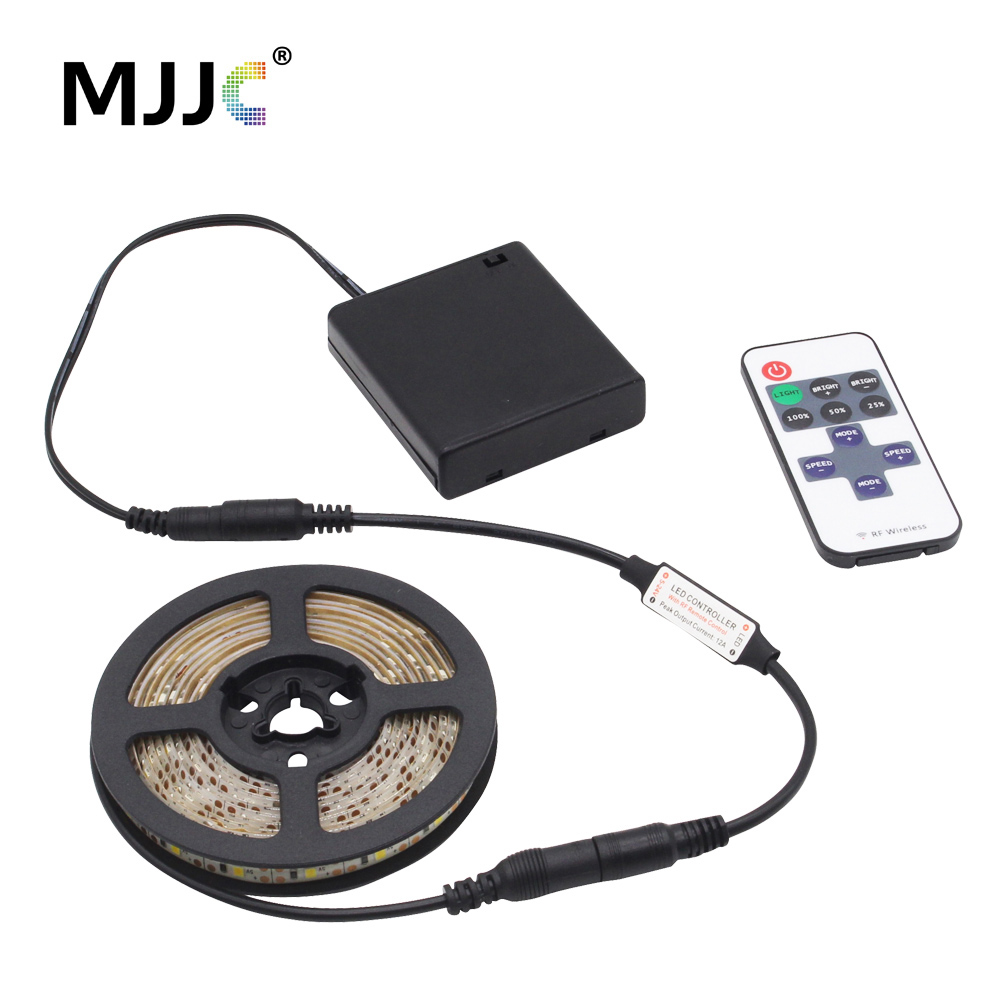 LED Strip Remote Battery Powered Strip Light Dimmable DC 5V LED Tape Battery Operated Stripe Waterproof 4AA With 11 Keys Remote