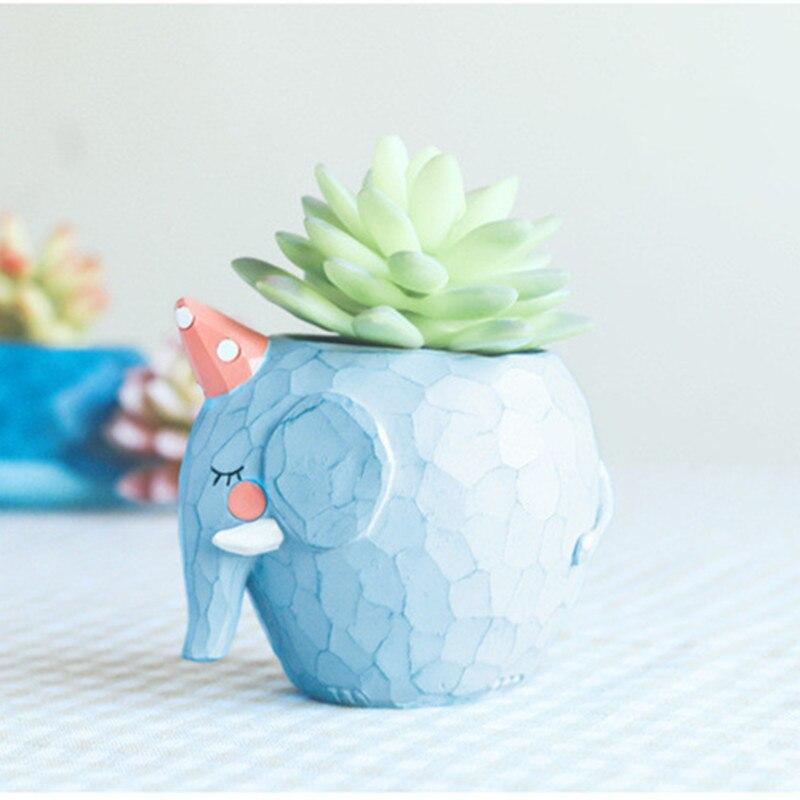 Image 5 - Lovely Crocodile Whale Cute Cartoon Resin Flower Pots Elephant Animals Succulent Plant Pots Bonsai Planter Home Office Decor-in Flower Pots & Planters from Home & Garden