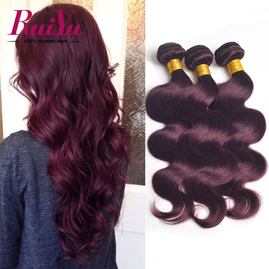 Brazilian Virgin Hair Body Wave 4 Bundles Burgundy 99j Brazilian Hair Weave Bundles Brazilian Body Wave Human Hair Extensions