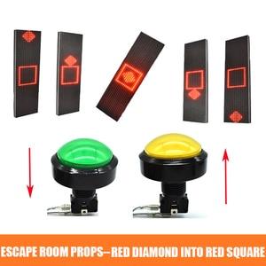 Sala de escapar Adereços Manter O Diamante Vermelho no Quadrado Vermelho Por algum tempo para desbloquear controll 12 v Eletrônico fechadura magnética