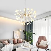 Современная Светлячок светодиодная люстра стильная ветка дерева люстра лампа декоративный Светлячок потолочный Люстра подвесное освещение