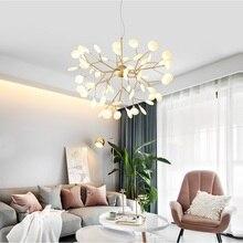 Moderne Firefly Led Kroonluchter Licht Stijlvolle Boomtak Kroonluchter Lamp Decoratieve Firefly Plafond Chandelies Opknoping Verlichting