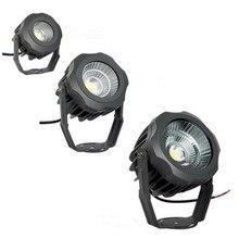 Наружные прожекторы 30 Вт/20 Вт/10 Вт, светодиодные водонепроницаемые светильники для деревьев, газон, мощные Круглые Прожекторы COB, ультраяркие Прожекторы для деревьев