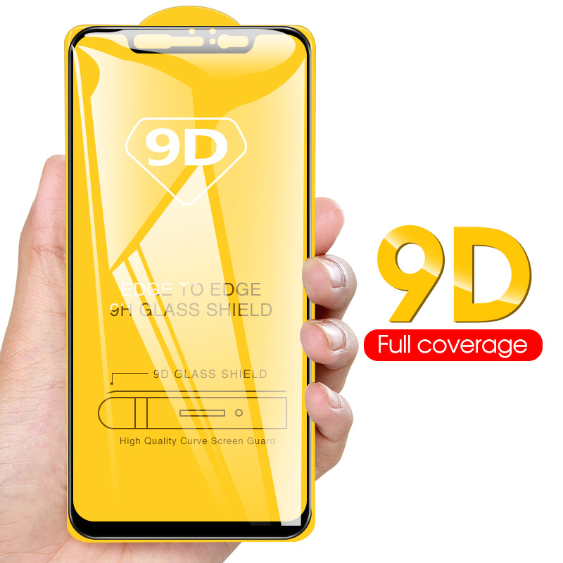 9D Full Cover Tempered Glass For Xiaomi Mi A3 A1 A2 8 Lite 9 SE Lite  9T Pro Mi8 Mi6X HD Screen Protector Explosion Proof Glass