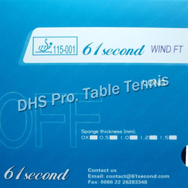 61second wind FT OFF Long Pips-out Table Tennis  Rubber With Sponge